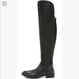 Tory Burch Women's Black Over-The-Knee Boots